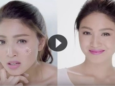 Lumelevel up! Nadine Lustre appears in an Indonesian TV commercial for Pond's