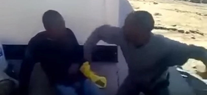 Mob Justice: Villagers makes two thieves beat each other in South Africa