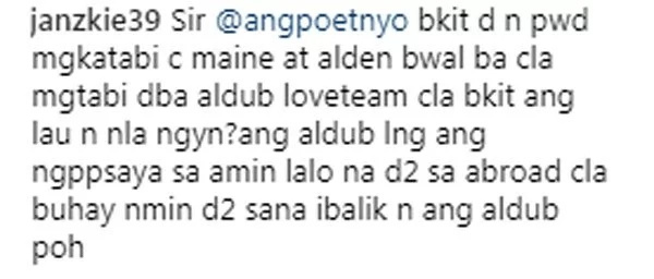 Joey de Leon makes another controversial post on IG - Could this be referring to AlDub?