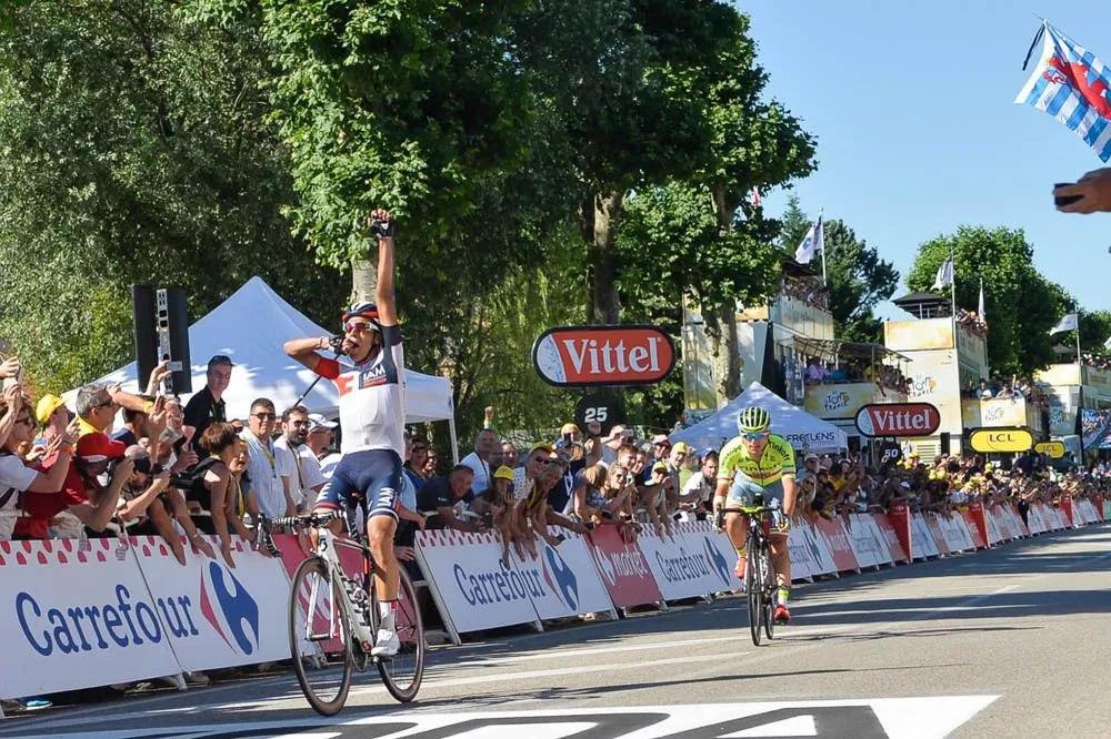 Festejo colombiano en el Tour de Francia