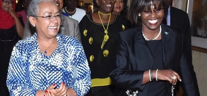 See First Lady Margaret Kenyatta With Other MPs' Wives At A Prayer Breakfast