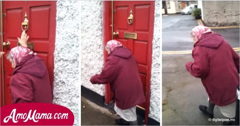 Abuela de 81 años muestra su lado travieso al tocar timbres de casas ajenas y salir corriendo