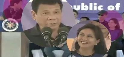 Napapalingon si Digong! Duterte admits VP Leni is beautiful during Tacloban speech