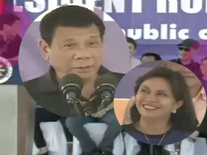 Napapalingon si Digong! Duterte admits VP Leni is beautiful during Tacloban speech