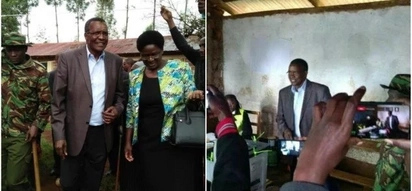 Supreme Court president, Maraga casts his vote. Can you guess who he voted for?