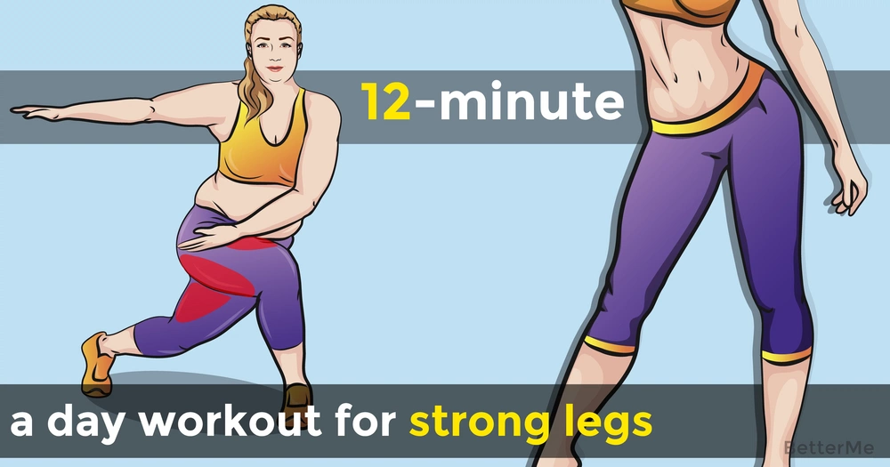 12-minute a day workout for strong legs