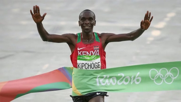 Eliud Kipchoge wins men's marathon gold at Rio Olympics