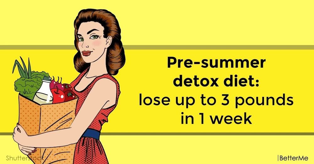 Pre-summer detox diet: lose up to 3 pounds in 1 week