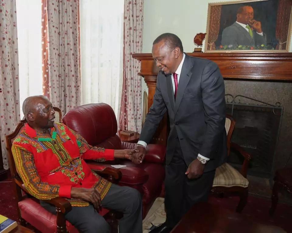 Moi and Uhuru meeting