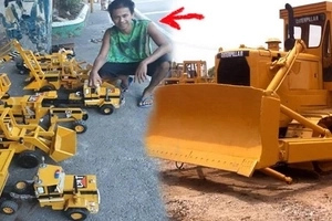 Galing ni Kuya! This Filipino shows how ingenious Pinoys can be by making replicas of renowned heavy equipment