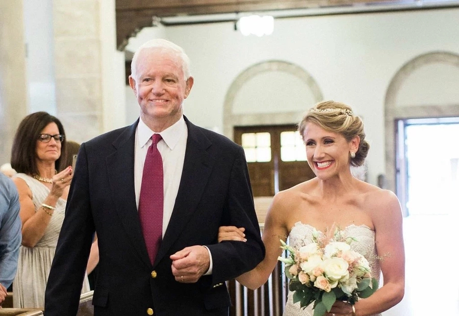 Her father's heart will beat next to his daughter on her wedding