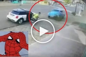 Muntikan na! Real-life Spider-Man escapes getting crushed to death by out-of-control car