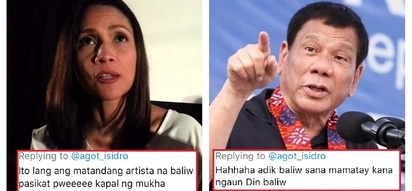 Hindi niya pinalagpas! Agot Isidro responds to basher who called her 'insane' and wanted her to die for criticizing President Duterte