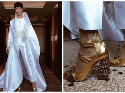 Wala talagang kakabog! Vice Ganda shows up in a wedding in an 'unkabogable' outfit