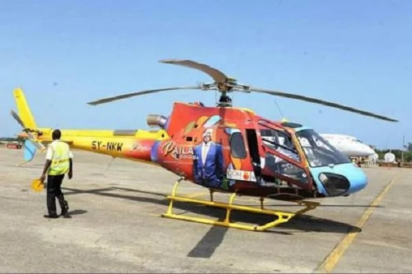 Raila Odinga unveils helicopters for 2017 campaigns