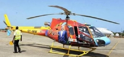 Forget UhuRuto's vehicles, Raila unveils branded helicopters for 2017