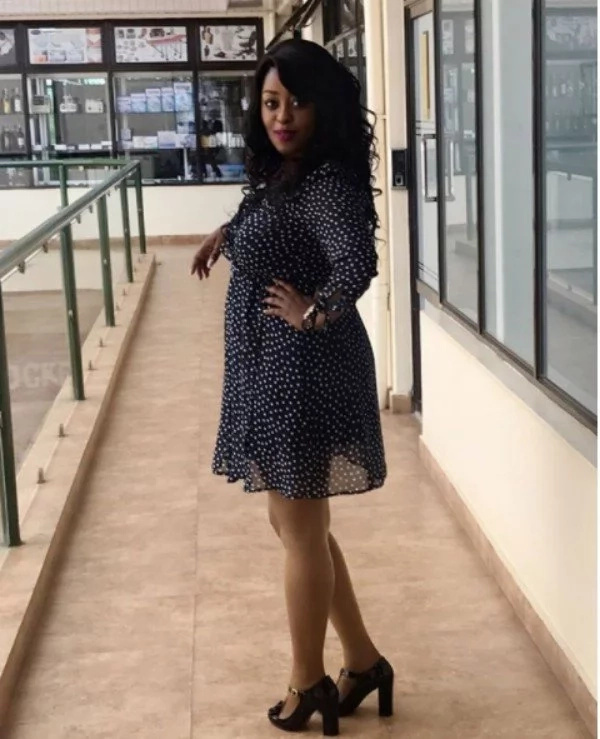 0fgjhs2oittot81eeg.08a81b7b - Citizen TV's Lilian Muli dresses her bulging baby bump in short dress, fish-net tights and she looks hot AF