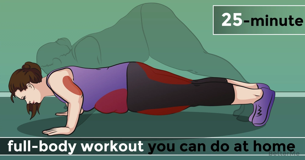 A 25-minute full-body workout you can do at home