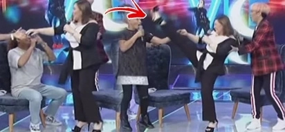 Infernez Ate Shawie! Sharon Cuneta surprises Vice Ganda with her flexible legs! She really kicks higher than Vice!