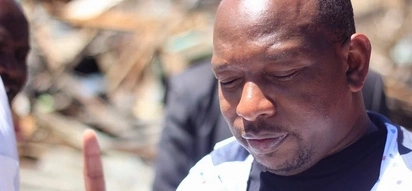 Mike Sonko breaks down while listening to gospel song 'Nani kama wewe' after High court victory