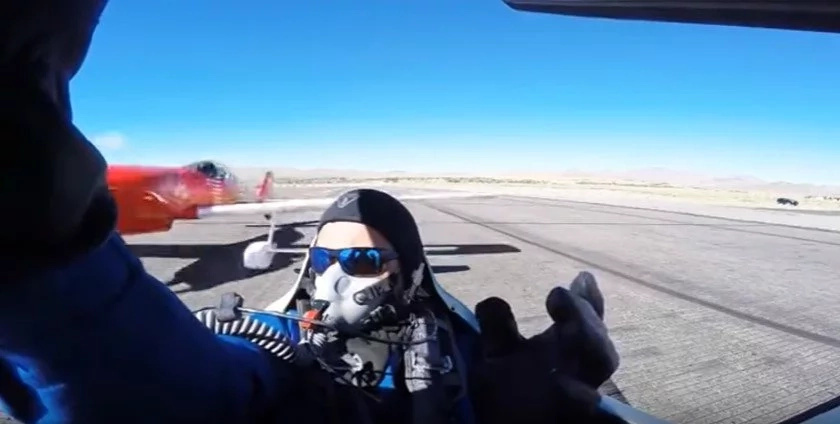 Horrifying moment a pilot almost decapitated by another plane