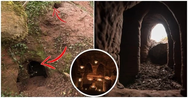 Farmer finds a rabbit hole in his field that leads to mysterious caves that were used in the 18th and 19th century