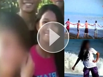 It was her last selfie, taken a few minutes before the huge wave came crashing. See what happened next.