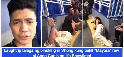 """Binuking talaga niya! Viral video of Vhong Navarro revealing Anne Curtis' """"petiks"""" style in It's Showtime"""