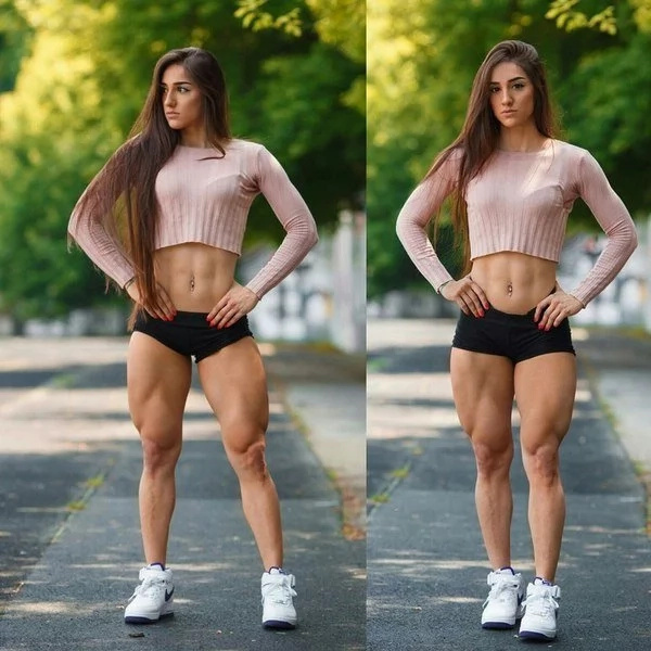 This fitness model has the perfect curves and a gorgeous face!