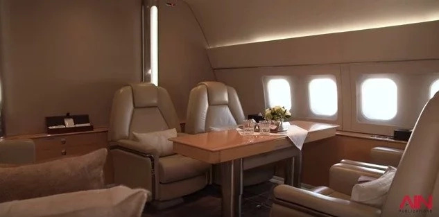 The jet costs up to Ksh25m a day to hire