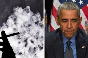 After his daughter broke the web, photos of Barack Obama smoking wildly emerge