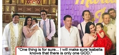 Welcome to the Christian world! Robin and Mariel Padilla will let Baby Isabella choose her religion when she grows up