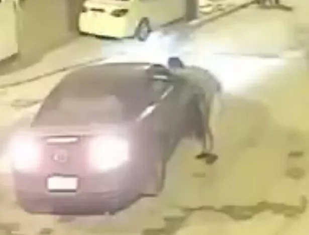 Killed in seconds! Man collapses and instantly dies in the street after stray bullet hits his head from sky