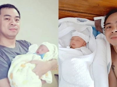 Daddy duties first! Chito Miranda proves he is dedicated to his new job