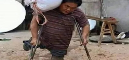 PHOTO: Dad with no legs lifts heavy sacks for work; his AMAZING story will INSPIRE you!