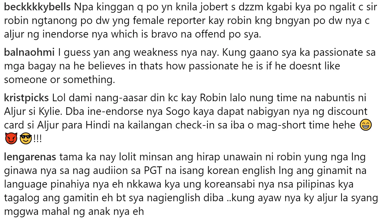 Sayang daw pinaglalaban niya kung lagi init ng ulo pinapairal! Lolit Solis reacts on Robin Padilla almost hitting a reporter incident