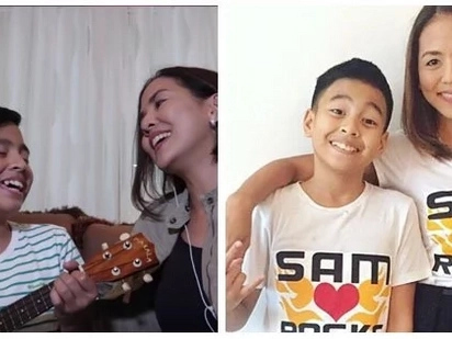 Ang cute nilang mag-ina! Sam Shoaf and mother Arnee Hidalgo cover 'Titibo-Tibo'