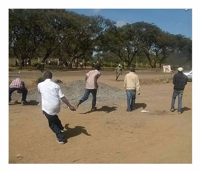 Youth block road, throw stones after recruitment exercise is cancelled