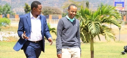 After getting married Uhuru's son finally shows up from hiding (photos)