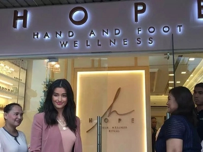 Liza Soberano opens her new Hand and Foot wellness in Quezon City