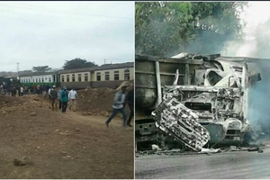 Train accident in Nairobi leaves several injured (photos)