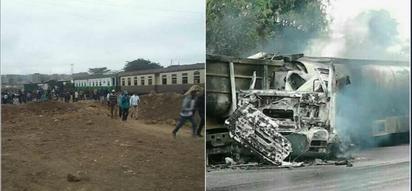 Ajali ya treni Nairobi yawaacha watu kadha wakiwa wamejeruhiwa (picha, video)