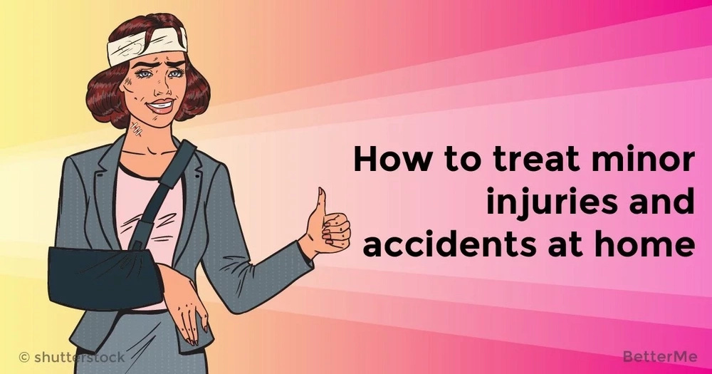 How to treat minor injuries and accidents at home