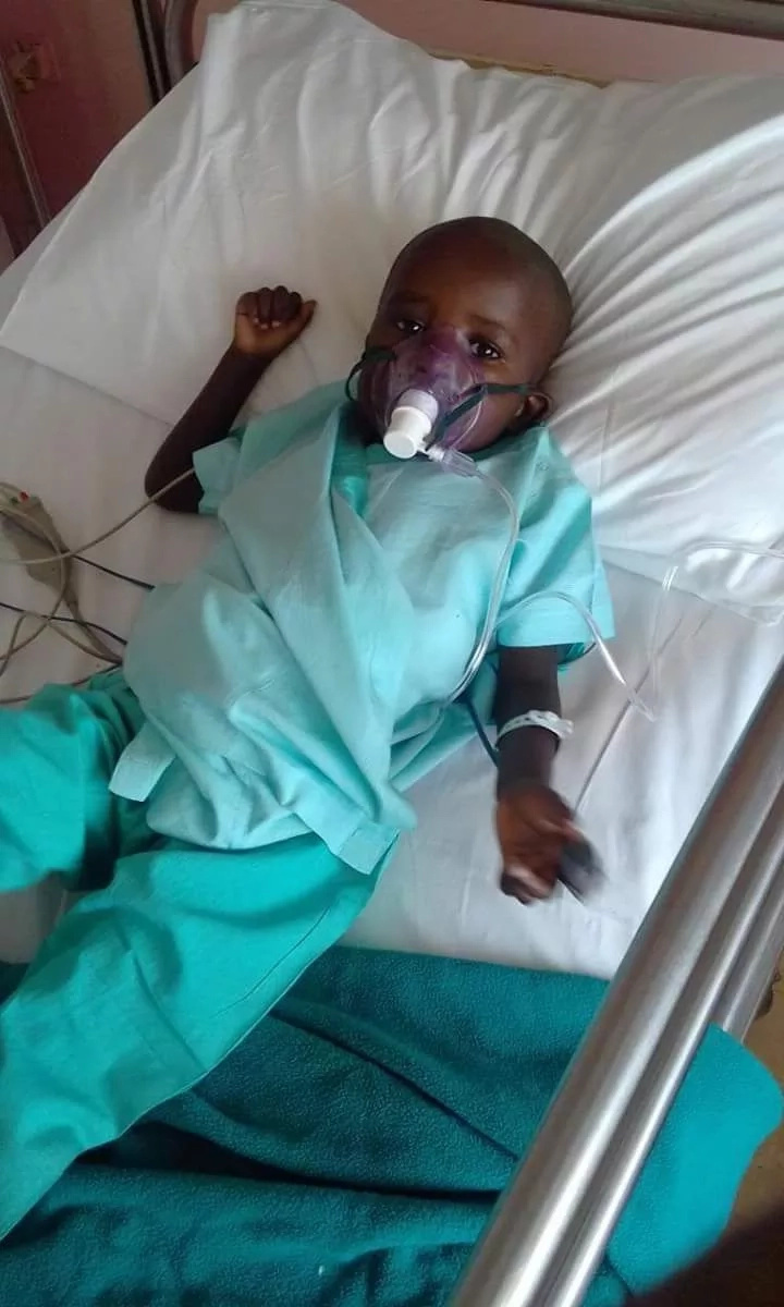 3-Year-Old girl with tube in her chest needs your support