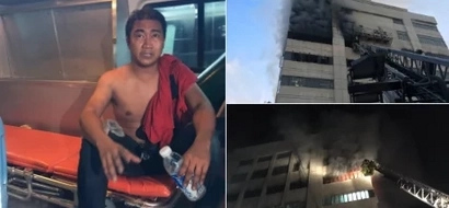Man spends seven hours inside elevator of burning building