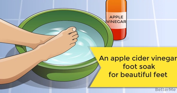 An apple cider vinegar foot soak for beautiful feet and a healthy body