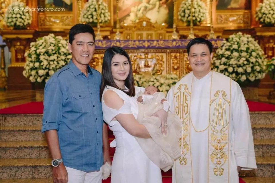Photos from the baptism of Vic Sotto and Pauleen Luna's baby Talitha