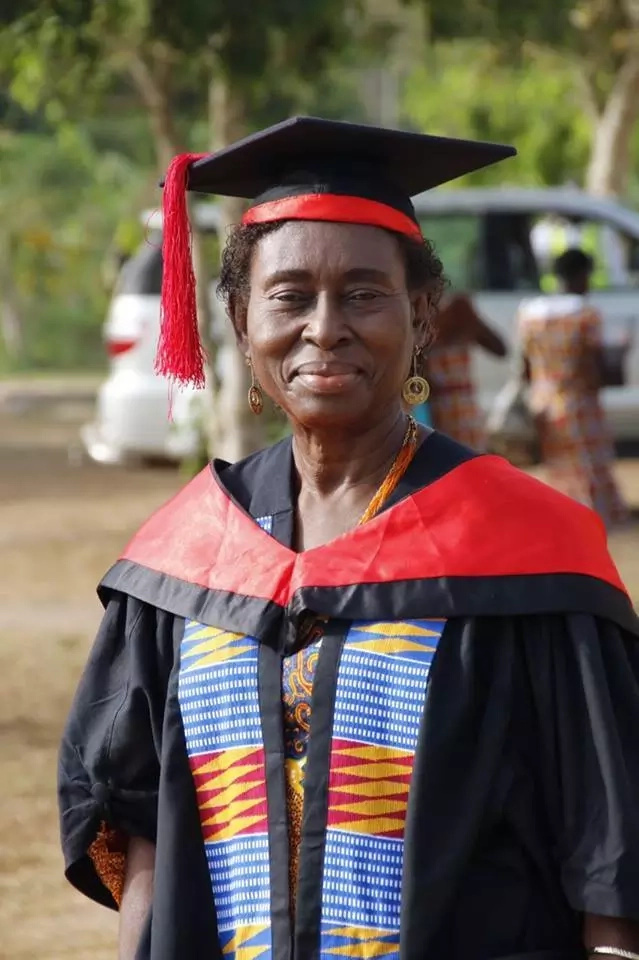 Woman, 70, proves age is nothing but a number as she graduates with Masters degree (photo)