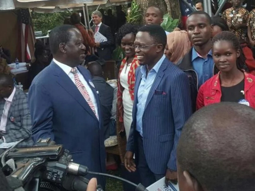 Raila meets Ababu Namwamba at US Embassy