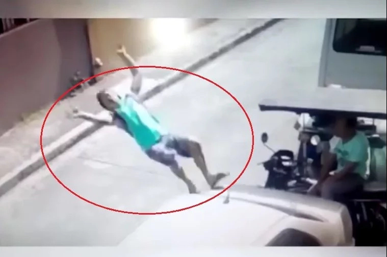 Pinoy captured hitting the ground after failed tumbling stunt